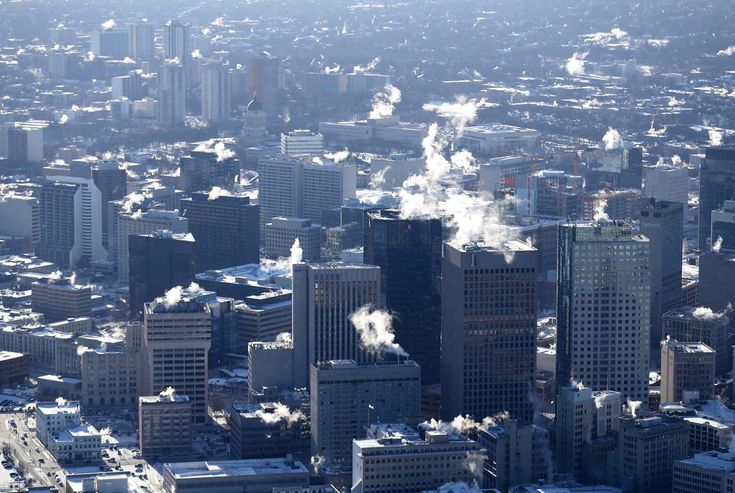 Wintry Winnipeg from the Air (click through for photos) | Trevor Hagan / WInnipeg Free Press