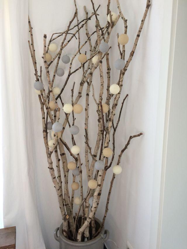 Birkenstämme Mit Cottonu0026Cable Lichterkette   Süße DIY Idee Zum Nachmachen  Mehr