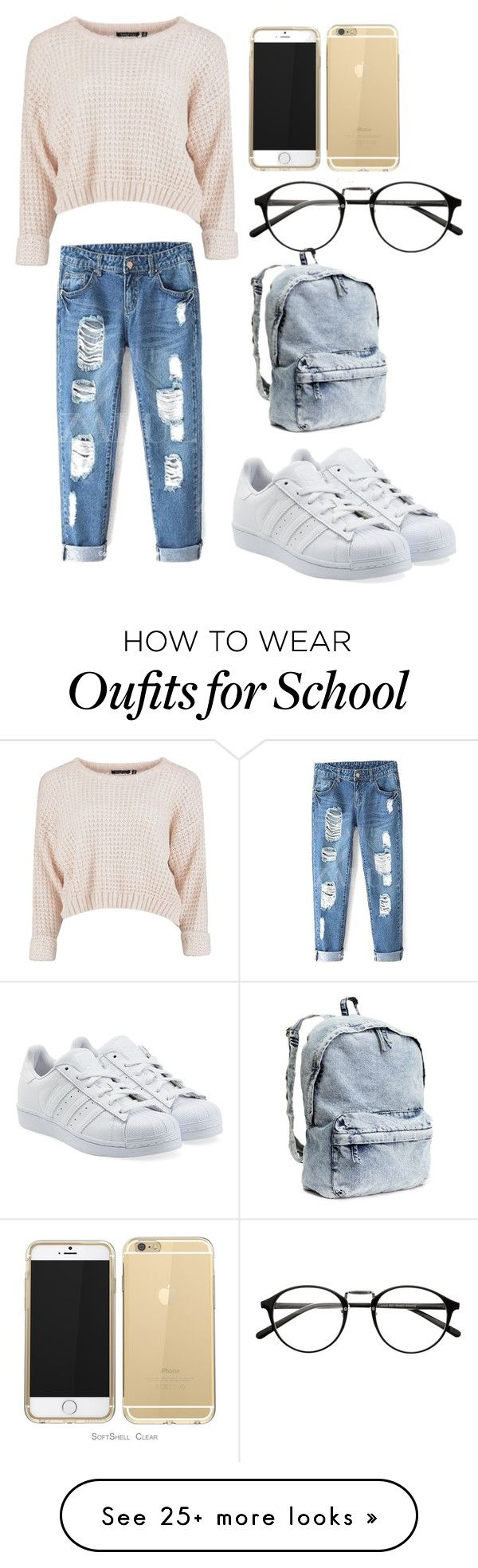 Back to School outfit (1) by dili-aquarius on Polyvore featuring adidas Originals and HM ADIDAS Women's Shoes Running - http://amzn.to/2ik27fE