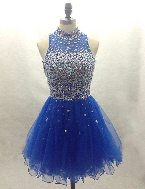 Royal blue Homecoming dress,short prom Dress,charming Prom Dresses,Party dress…