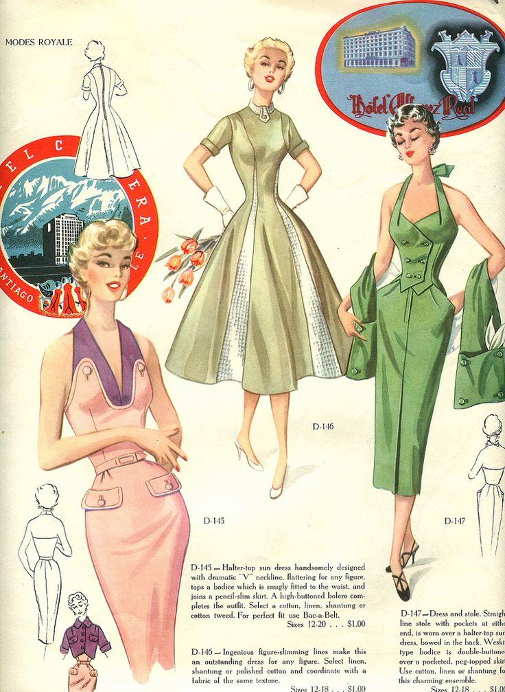 Spring and Summer fashions of 1954.