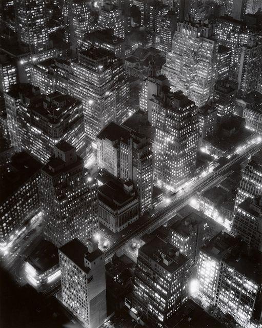 Night View, New York, 1932, by Berenice Abbot