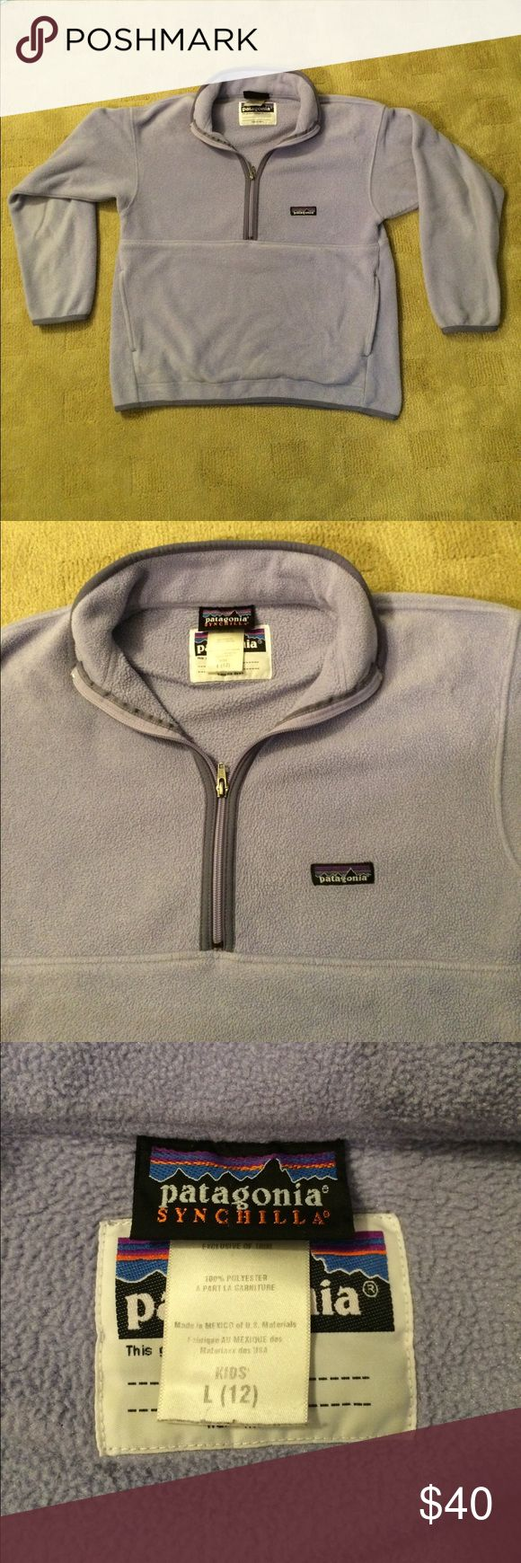 Patagonia Kids Synchilla Fleece Pullover Light purple Patagonia fleece pullover. 1/4 zip. Lightweight. Incredibly soft!!! Perfect for any occasion from summer nights into the winter! Great condition! Patagonia Jackets & Coats