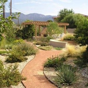 29 best images about drought tolerant landscaping on for Water saving garden designs