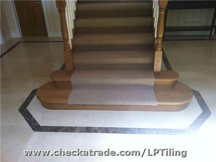 Marble tiling hallway