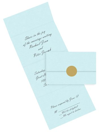 Seal and Send Invitations - Printable Wedding Envelopes with detachable RSVP postcards. Simple. Budget friendly.