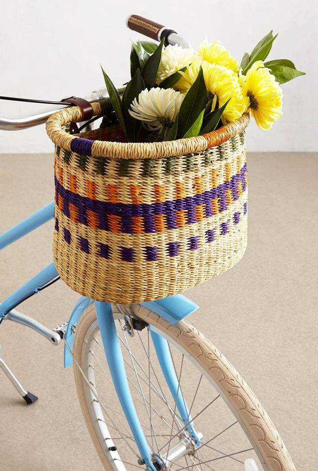 Asungtaba Bike Baskets.  Love these.  I wonder if it would be stolen from my bike with such easy mounting.