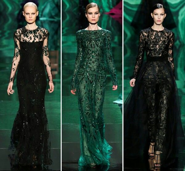 Pretty on green gowns