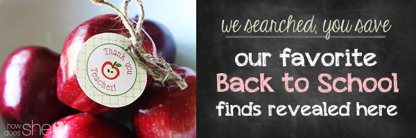 We've gathered some of our favorite back to school products and finds in one place just for you! Save money and time this school year!