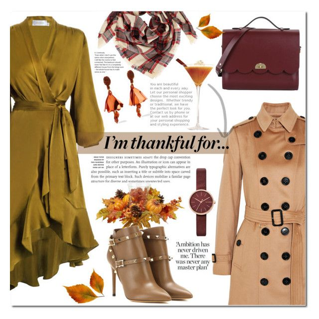 """""""I'm thankful for..."""" by mery90 ❤ liked on Polyvore featuring Burberry, Zimmermann, Valentino, The Cambridge Satchel Company, Oscar de la Renta, Skagen, thanksgiving, fallstyle and fall2017"""