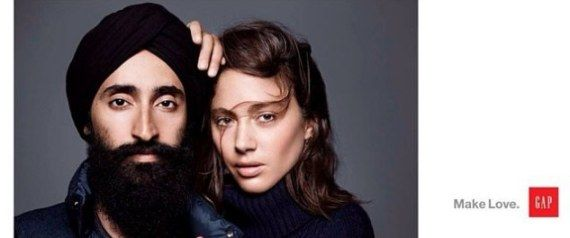 Gap's Ad With Sikh Model Waris Ahluwalia Defaced With Racist Graffiti, Drawing Incredible Response From Company