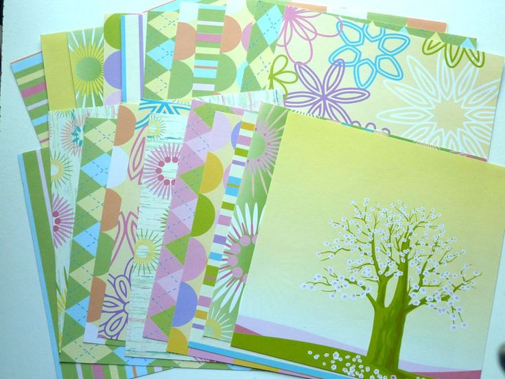 Card Stock Blossoms 23 Sheets by SouthamptonCreations on Etsy