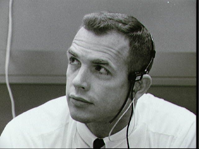 Astronaut David Scott in mission control
