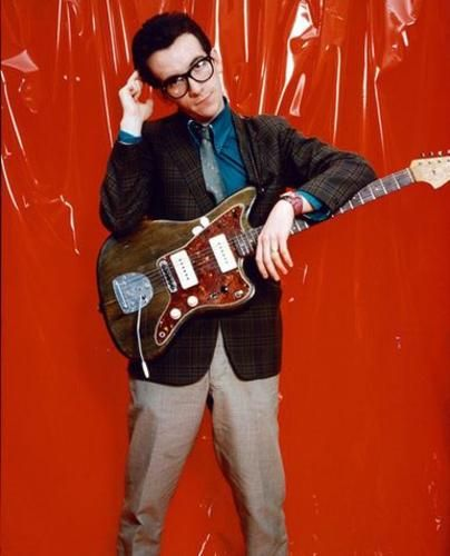 Elvis Costello with his Jazzmaster