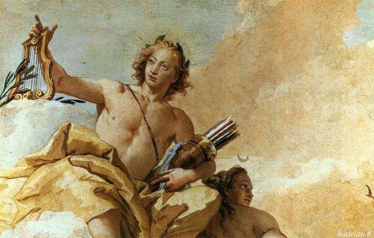 """hadrian6: """" detail: Apollo. Giambattista Tiepolo. http://hadrian6.tumblr.com """""""