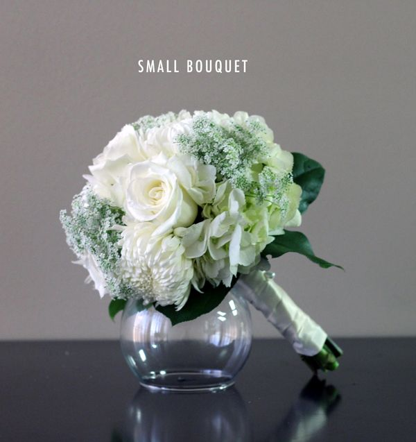 Bridal White Small Bouquet from Bridal Flowers to Go! Wedding Flowers in Houston, TX. Perfect for bridal portraits! http://www.bridalflowerstogo.com