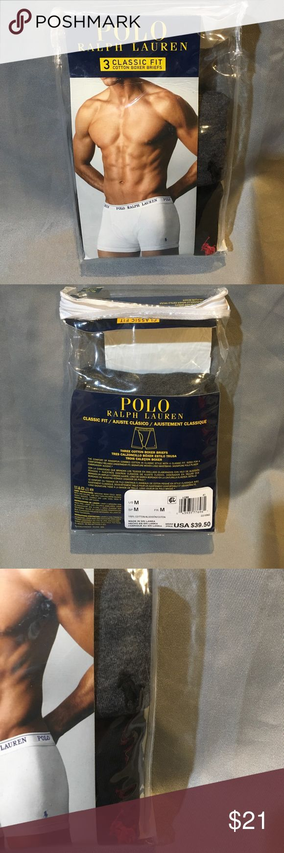 NWT Polo Ralph Lauren Men's 2 Pair Boxer Briefs NWT Polo Ralph Lauren Men's 2 Pair Boxer Briefs. Classic for. It was a 3 pack, but one was missing. Polo by Ralph Lauren Underwear & Socks Boxer Briefs