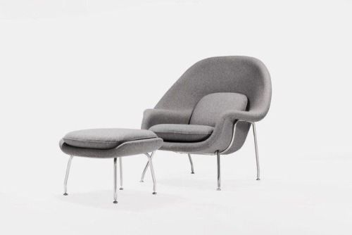Eero Saarinen / Knoll / Womb / Chair & Ottoman / 1948