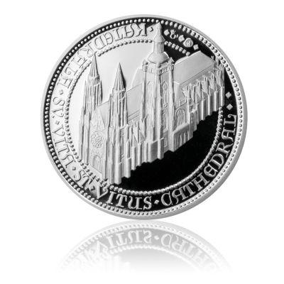 Sada tří stříbrných uncových medailí Doba Karla IV. proof   Česká mincovna