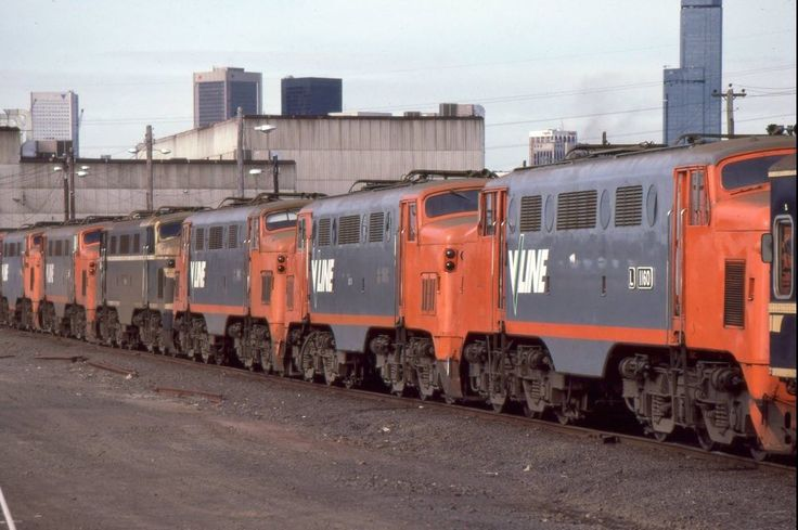 Today's historic pic: Withdrawn L class electric locos L1160, L1159, L1174 this end and L1150 (far end), Dynon depot Melbourne, July 5 1987