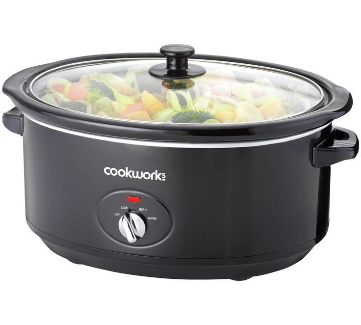 Buy Cookworks 6.5L Slow Cooker - Black at Argos.co.uk, visit Argos.co.uk to shop online for Slow cookers, Multi cookers, rice cookers and slow cookers, Kitchen electricals, Home and garden