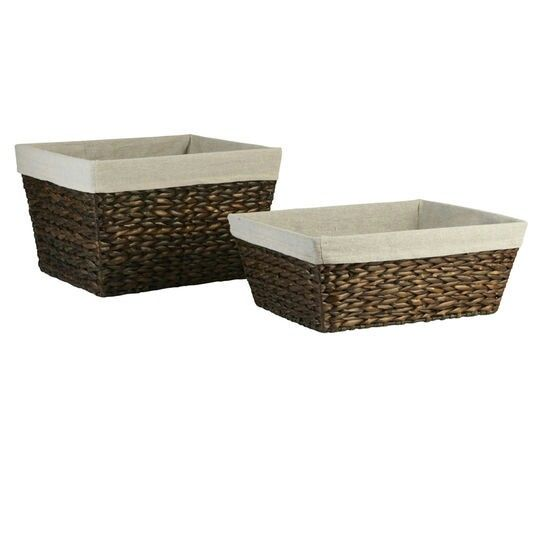 Woven Storage Baskets From Michael S Rectangle Storage Storage
