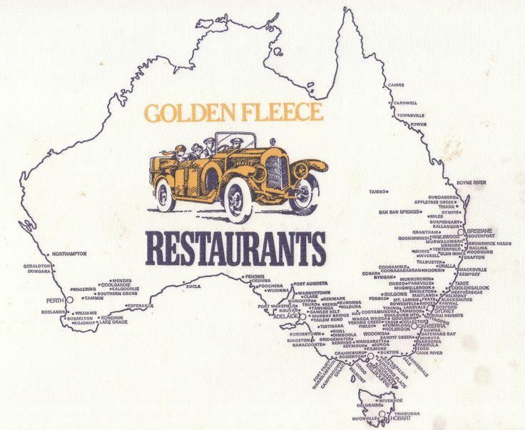 Golden Fleece Restaurant locations around Australian from the 1970s
