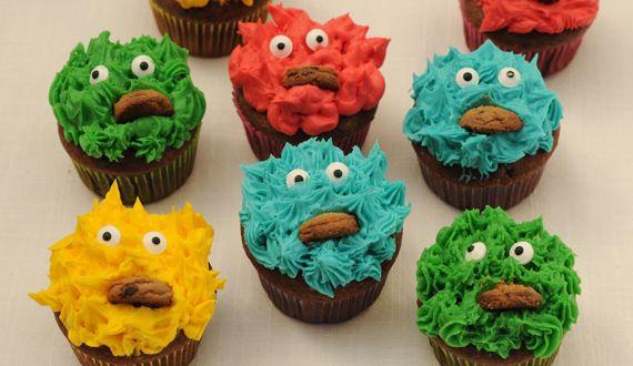 Cupcake de Monstruos de Colores