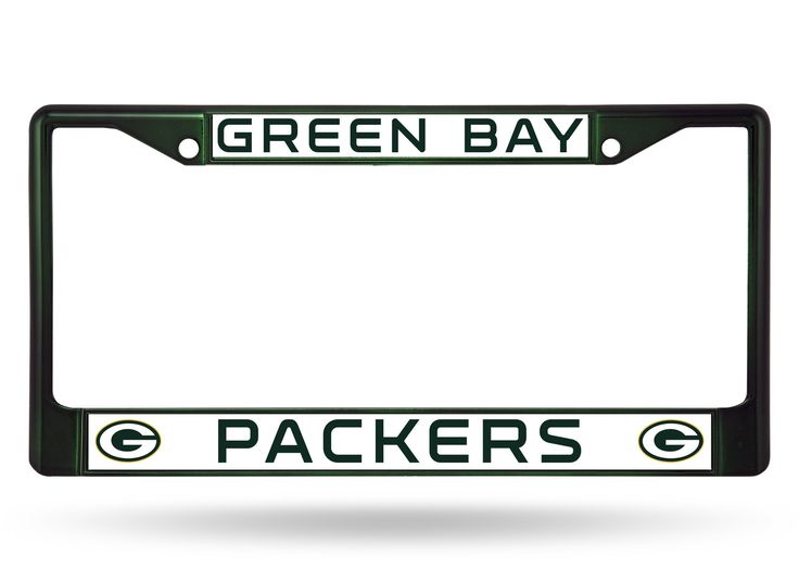 Green Bay Packers Color Chrome Metal License Plate Frame NEW Free Shipping! Green