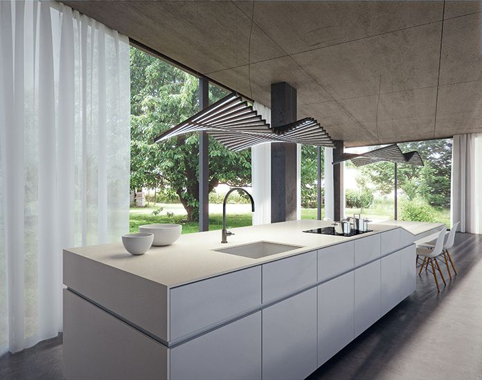 Contemporary Kitchen with 4001 Fresh Concrete