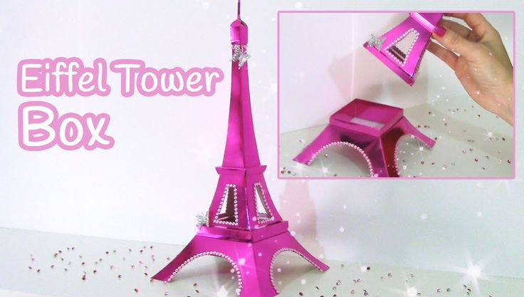 DIY crafts: Eiffel Tower box - Innova Crafts How to make a box inspired by Eiffel Tower. It's very easy! TEMPLATES: https://www.facebook.com/media/set/?set=a...