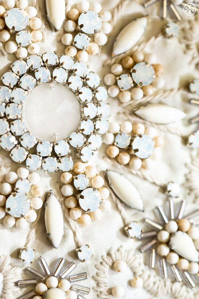 White wonder: jewel and bead detail