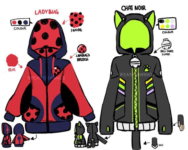 Miraculous Ladybug & Chat Noir - Abrigos de tematica de Ladybug y Chat Noir BreakDance AU