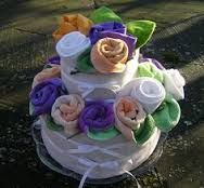 Image result for cloth diaper cakes