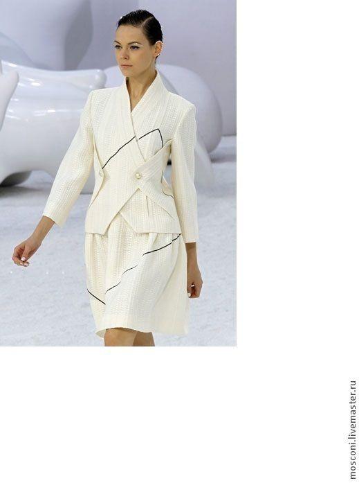 Купить -10% Ткань костюмная Котон. Гамма цветов.  Италия - белый, хлопок, вискоза, шанель