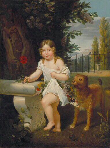 Delécluze Portrait d'enfant.