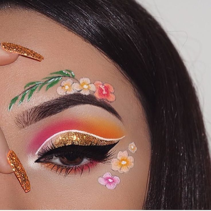 Spring Fever Makeup Challenge Inspiration. To enter see rules on our contest page  @makeupartchallenge. For glitters soo link in bio. Dear @nasiabelli thank you for this absolutely gorgeous tropical spring creation loving it  #glitterrealm