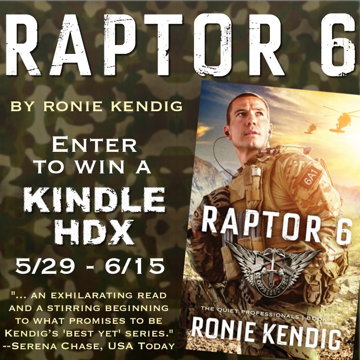 """""""Raptor 6"""" by Ronie Kendig is an exciting ride! Enter for a chance to win a Kindle HDX! Click to learn more."""