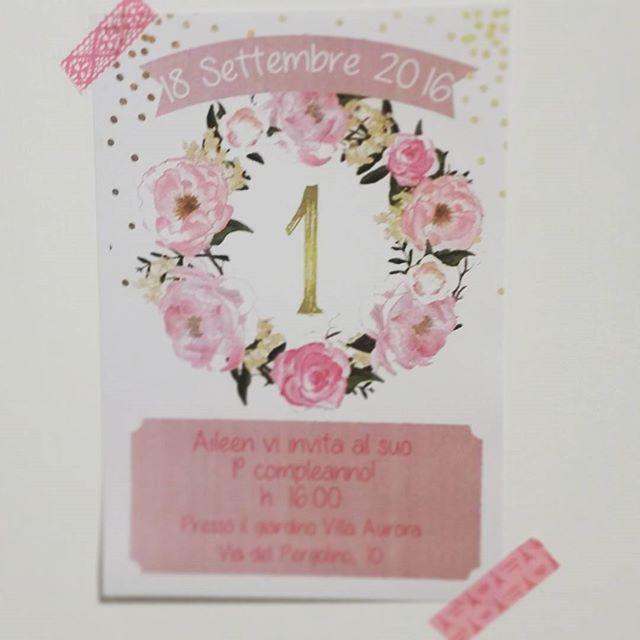 Invito per il primo compleanno di una stupenda principessa!  #1stbirthday #princess