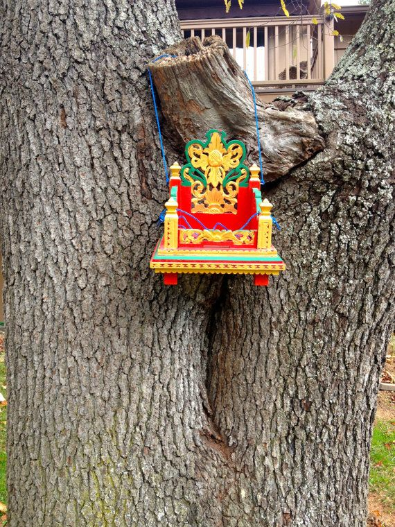 Balinese Painted Tree Altar by outofdrawers on Etsy, $24.00
