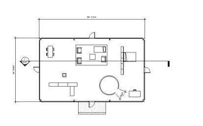 Glass house plan glass house x philip johnson for Glass house floor plans