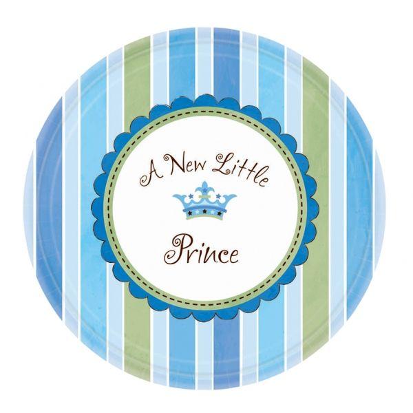 Talerzyki papierowe Little Prince. Pięknie będą wyglądały na przyjęciu Twojego synka.