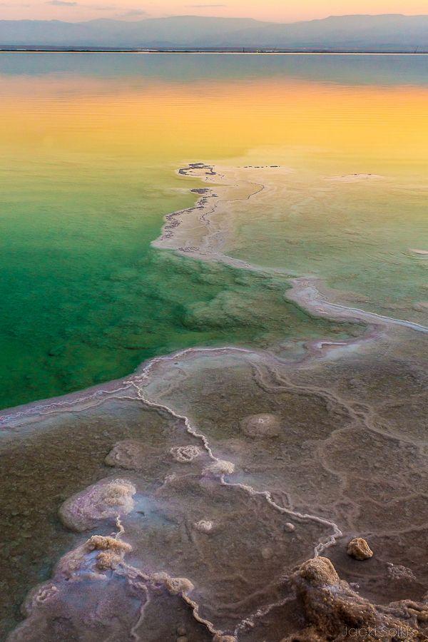 Dead Sea, Israel... Borders Jordan, Israel & West Bank..