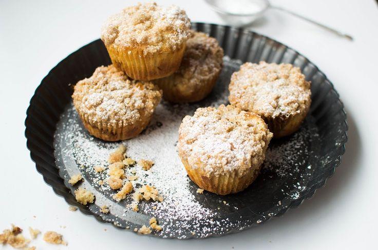 Muffiny z jabłkiem i kajmakiem