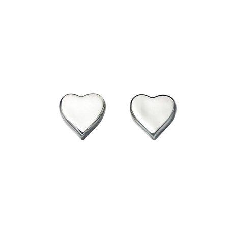 - Hjärtformade örhängen i äkta silver! Söta örhängen med små hjärtan, gjorda helt i äkta silver (sterling silver, 925). Perfekt present till Alla hjärtans dag, Mors dag och examen! • Material: Äkta silver / Sterling silver (925). • Storlek på hjärtat: 8 x 8 mm. • Säljs i par. • Levereras i vitglansig smyckesask. • Se matchande halsband, och fler hjärtsmycken i silver här.