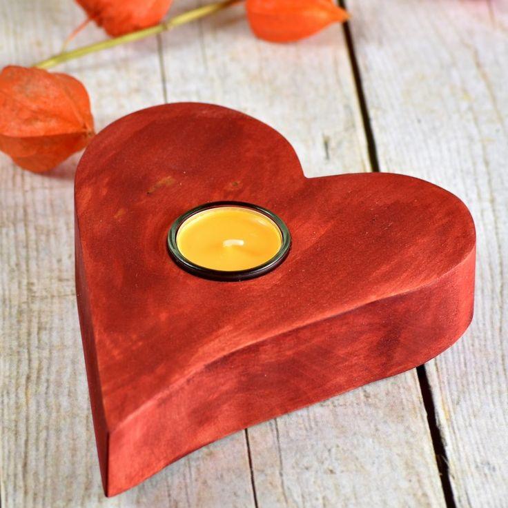 Romantycznie, prawda? Bejcowana brzoza. Birke / Birch #donitza, #toczenie, #woodturning, #walentynki, #love