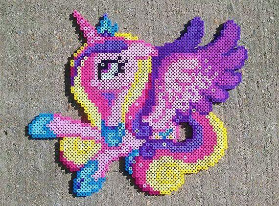 Principessa Cadance Perler Bead Art di PonyPerlerParlor su Etsy