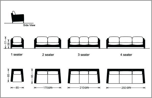 Living Room Furniture Sofas, Standard Furniture Dimensions
