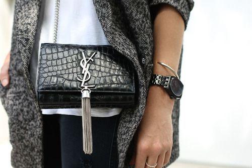 YSL Croc Bag | Accessorise Inspiration | Pinterest | Bags
