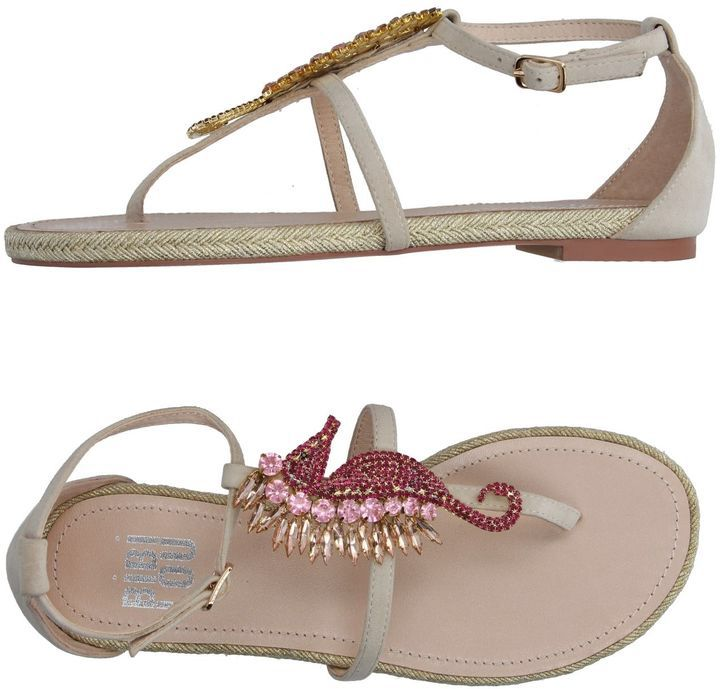 BIBI LOU Toe strap sandals. Super cute seahorse sandals on sale for $36 from $131